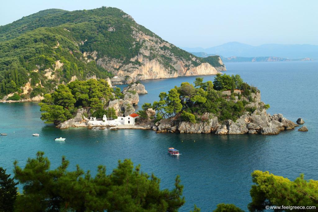 The islet of `Panagia` seen from the fortress