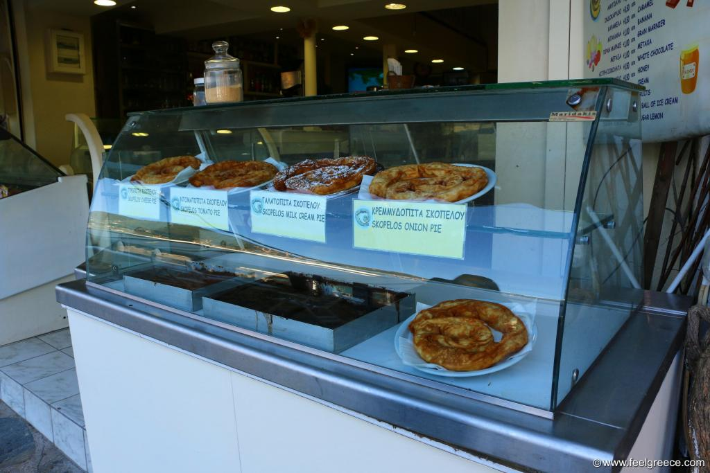 Traditional pies of Skopelos