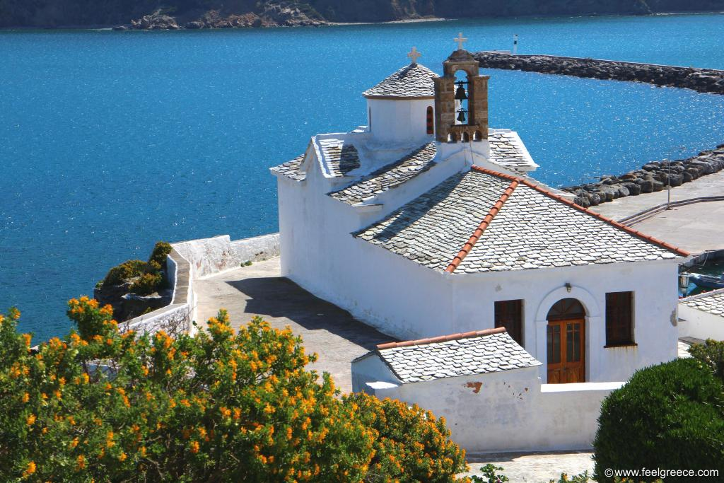 The most famous church of Skopelos