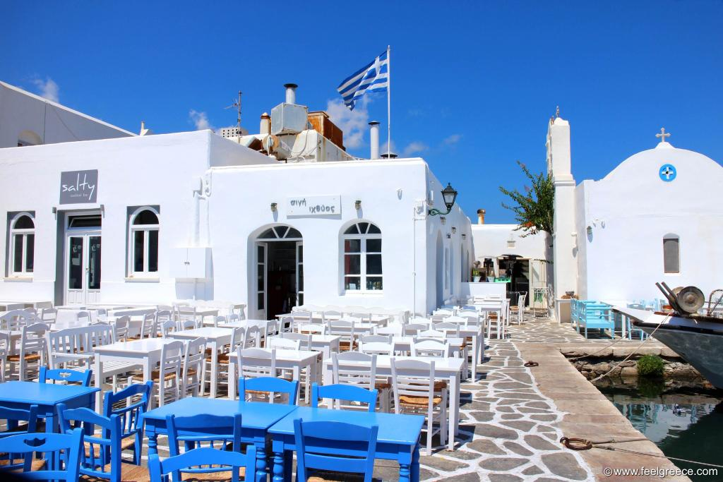 This lovely taverna in the old harbor will get really crowded in the evening