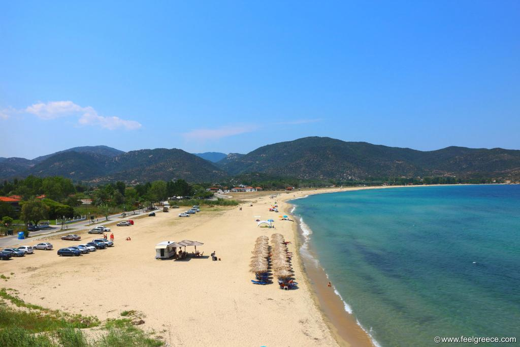 Ai Giannis beach in middle July