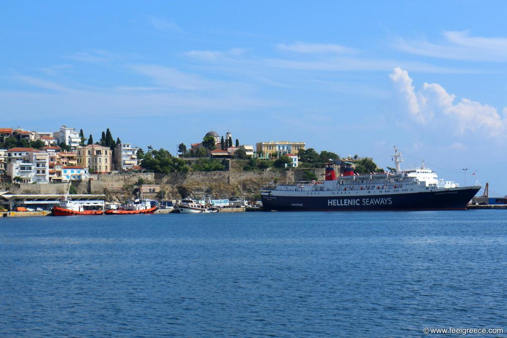 The ferry to Lemnos is about to depart