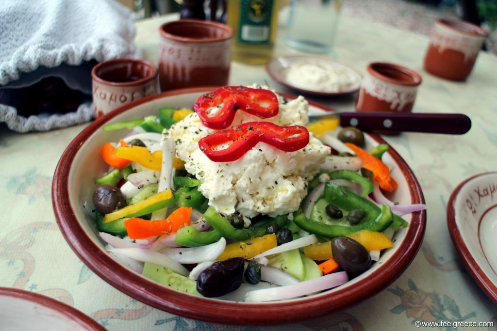 Horiatiki salata - Traditional Greek Salad